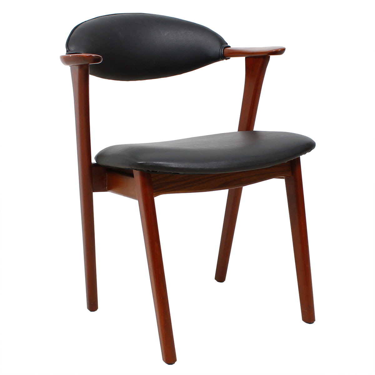 Danish Modern Teak Arm Chair by Erik Kirkegaard