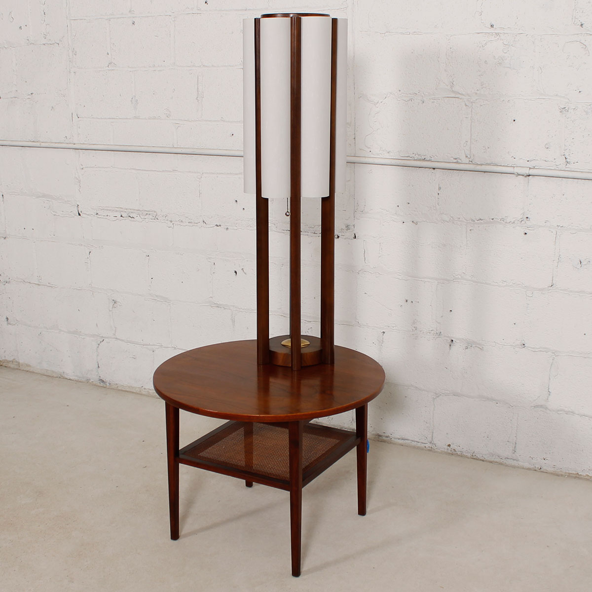 Architectural Modernist Tall Table / Floor Lamp