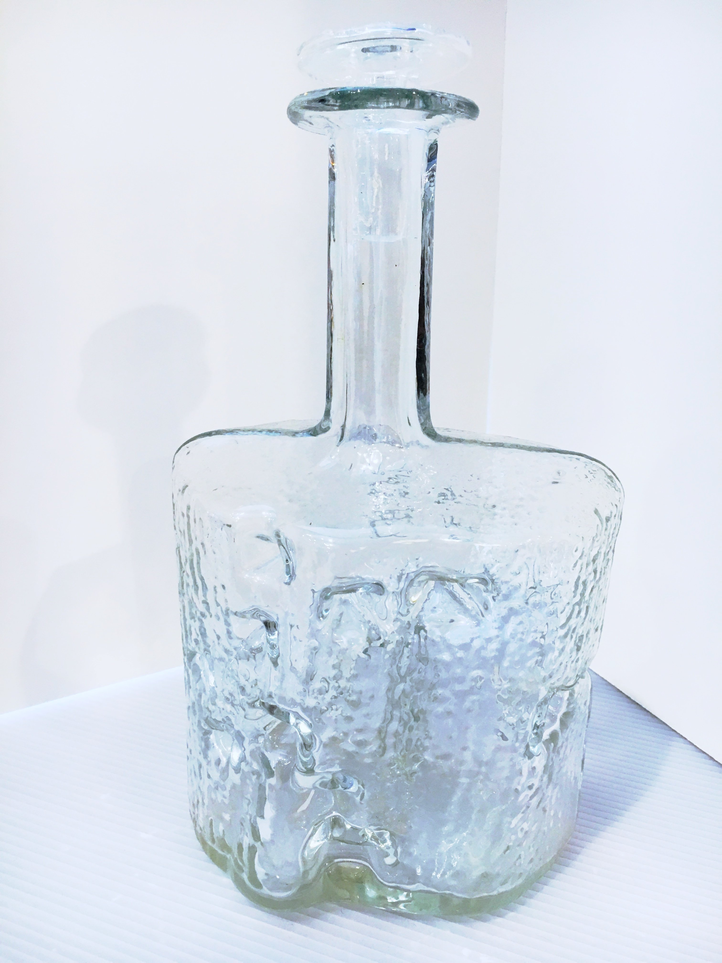 Brutalist Form Swedish Glass Decanter