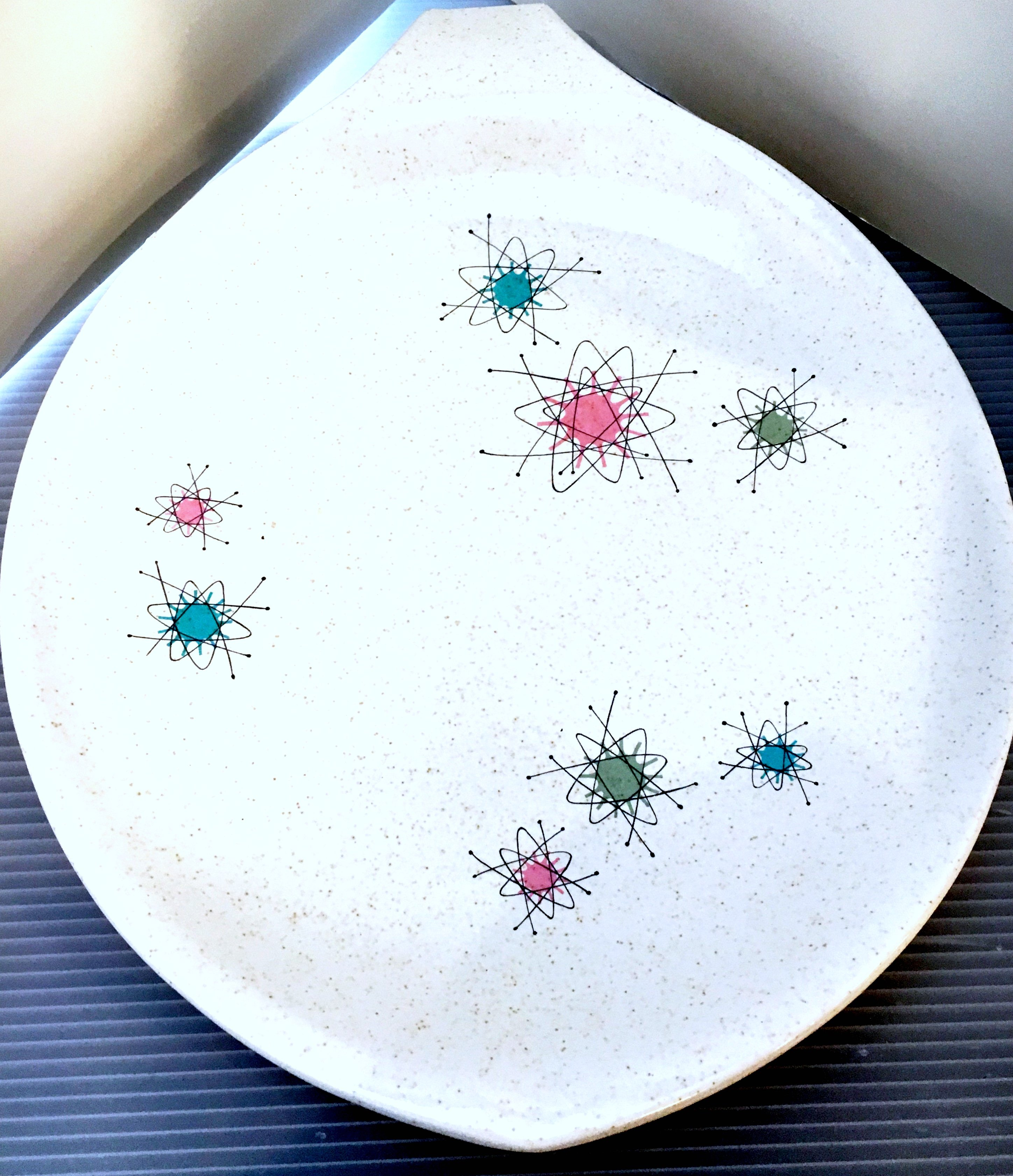 MCM Platter with Fun Satellite Pattern