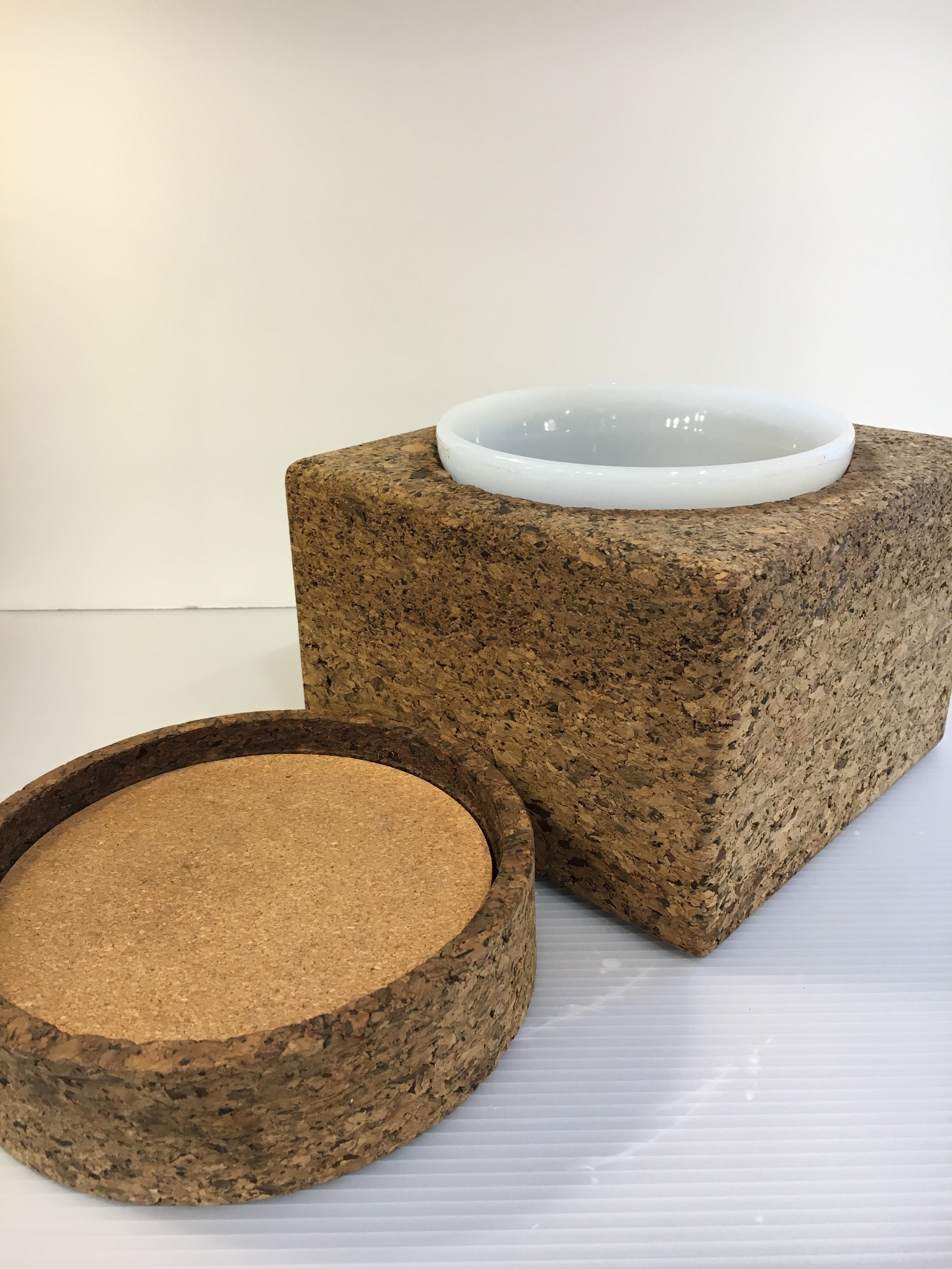 Large Cork Ice Bucket