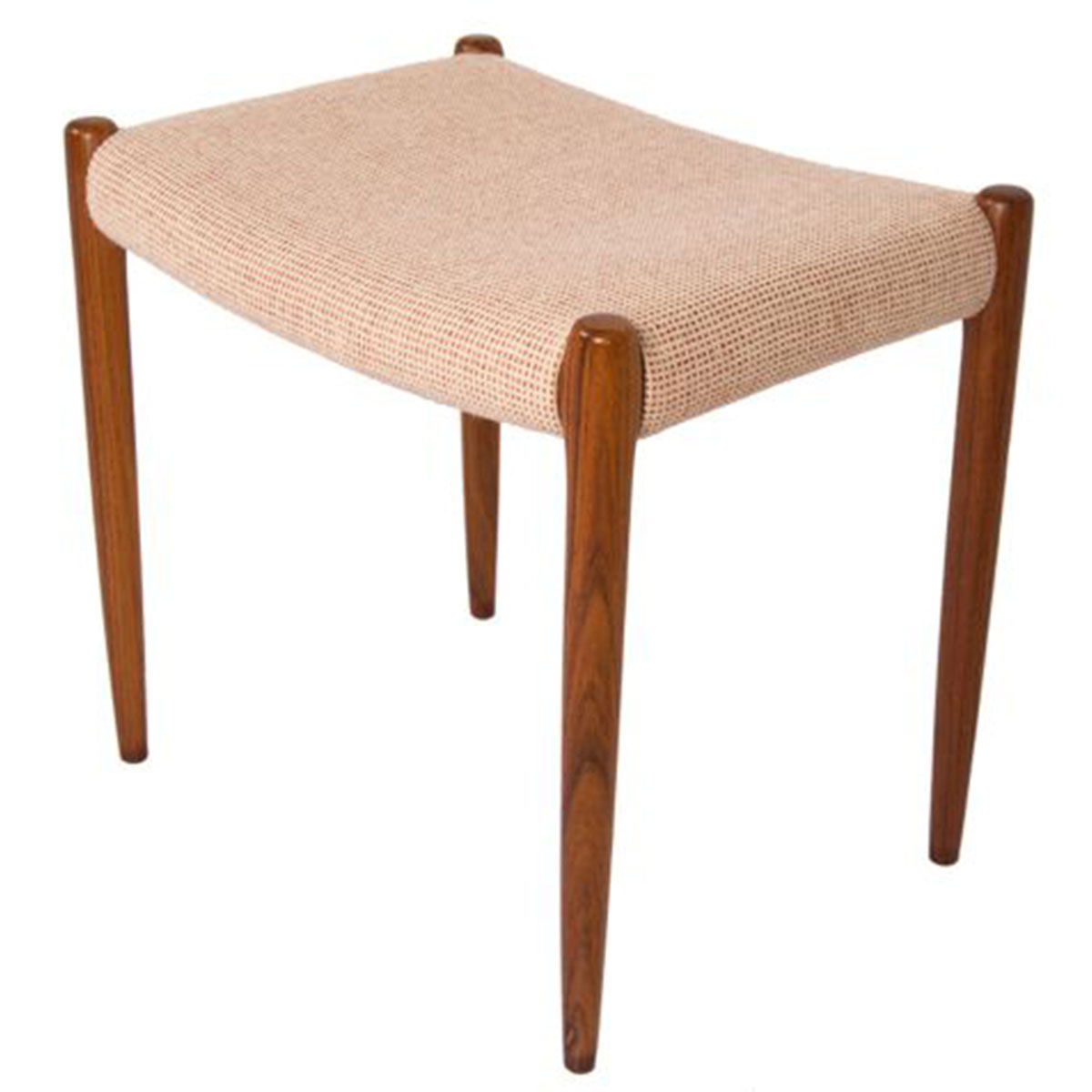 Niels Moller Danish Rosewood Upholstered Ottoman — Pair Available!