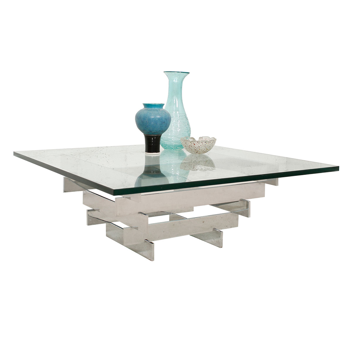 Paul Mayen for Habitat Chrome and Glass Coffee Table