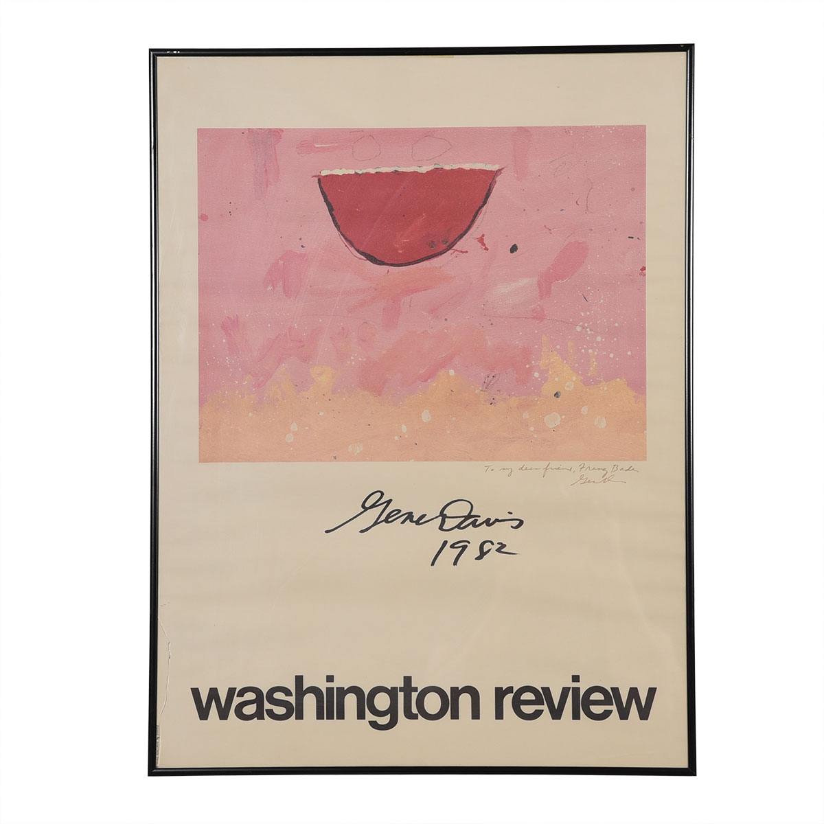 Vintage Gene Davis 'Washington Review' Poster (1982)