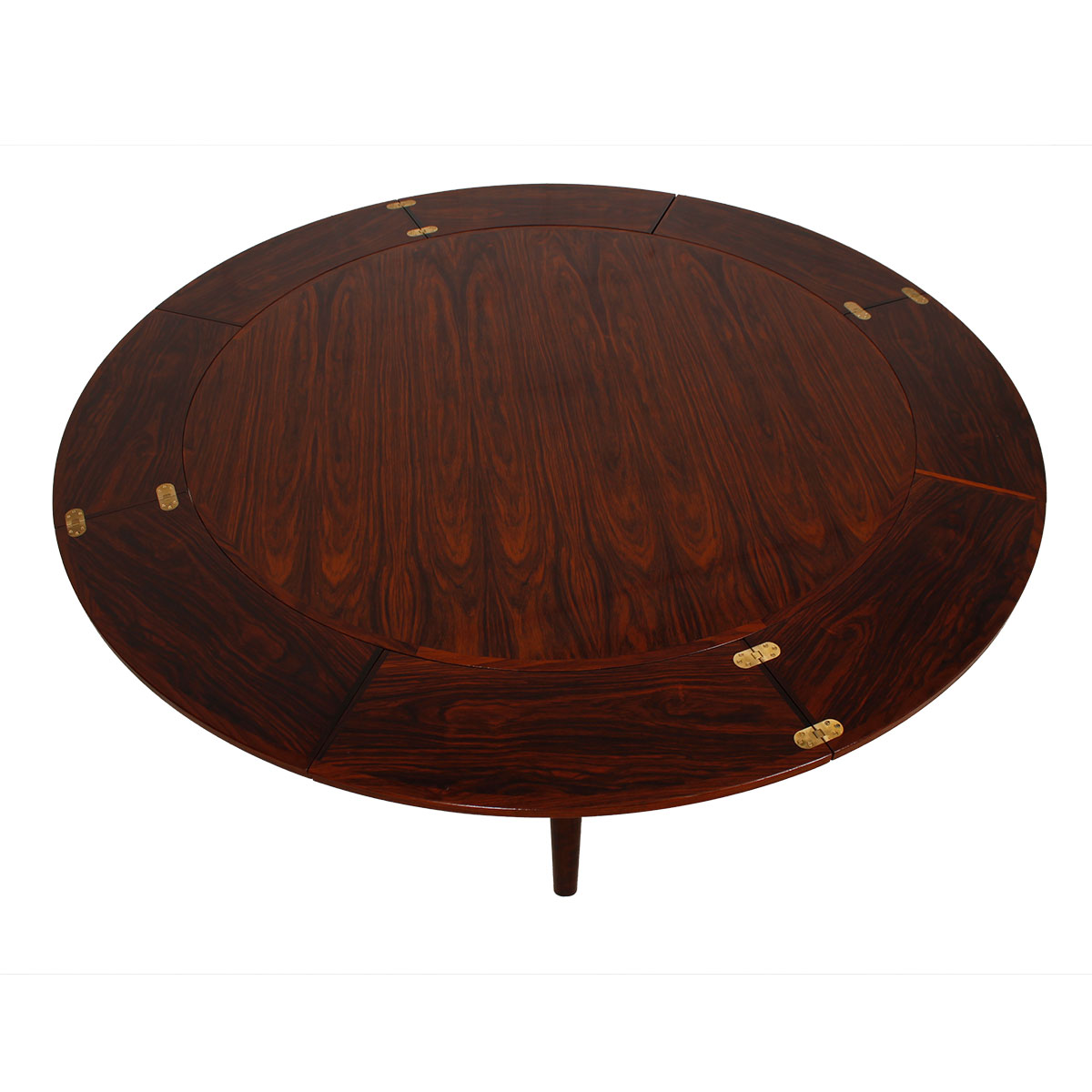 Lotus 'Flip-Flap' Danish Rosewood Expanding Dining Table by Dyrlund