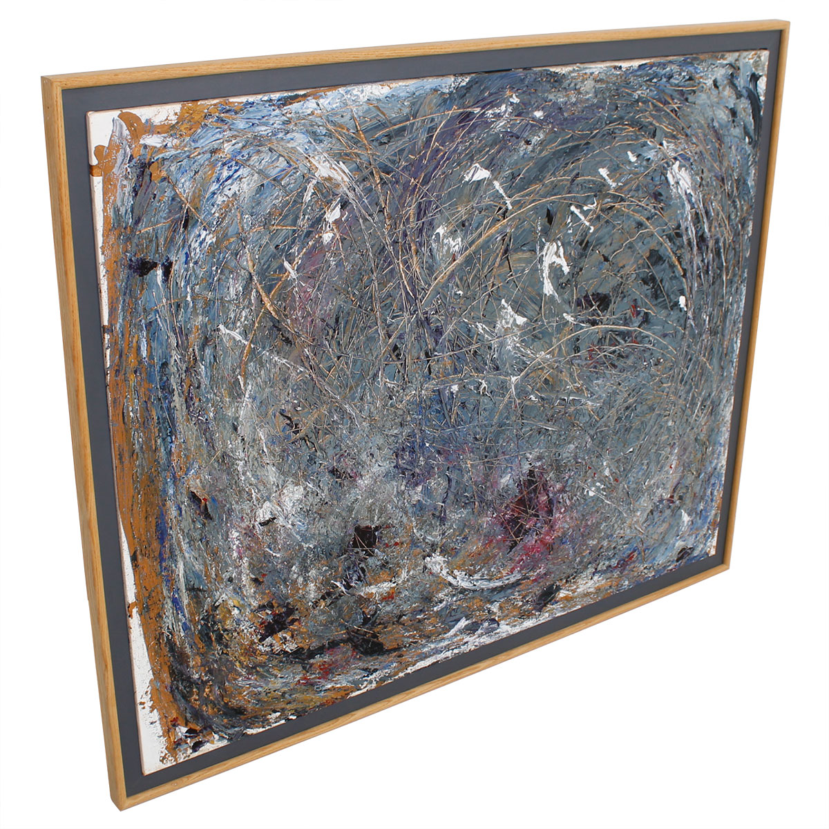 Abstract Gray Large Artwork by Mary Virginia Langston
