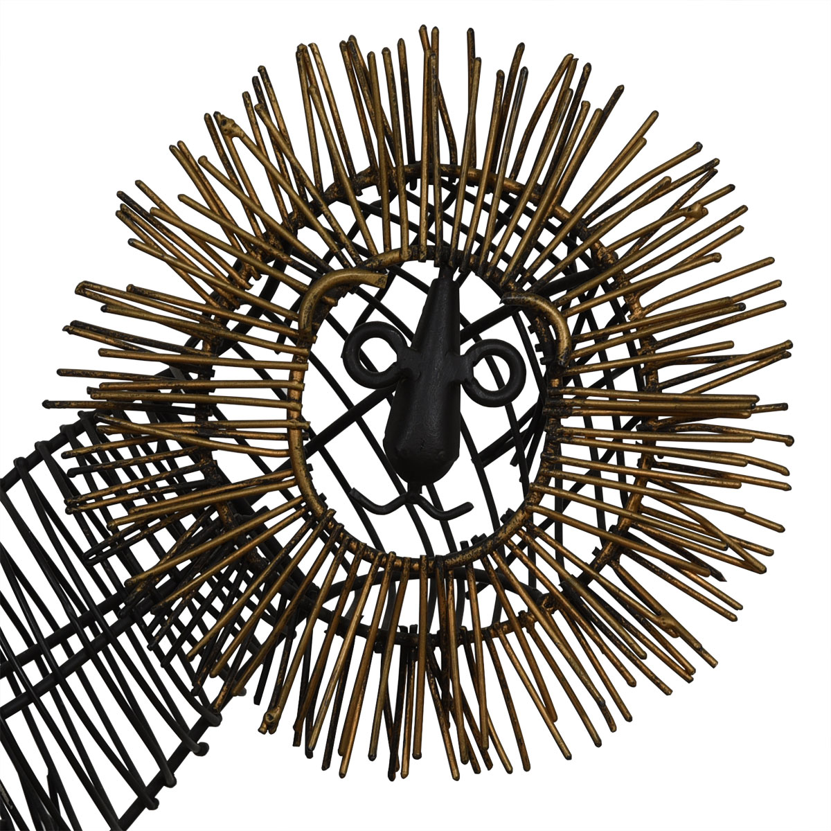MCM Wire Table Sculpture of a Lion