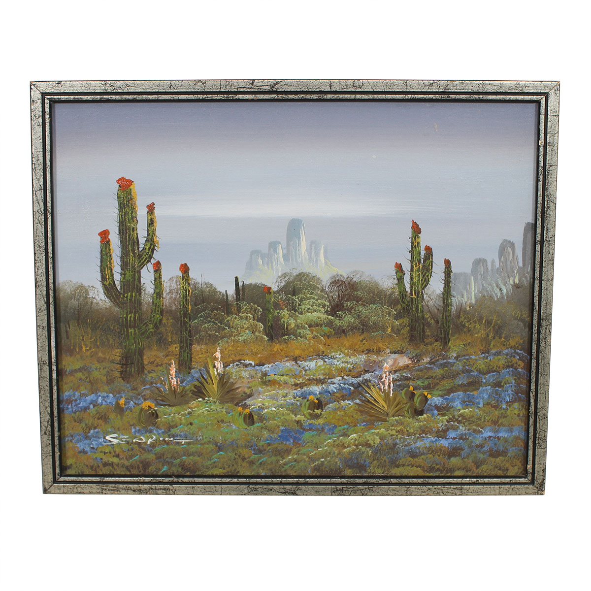 Original Painting of the Desert with Cacti