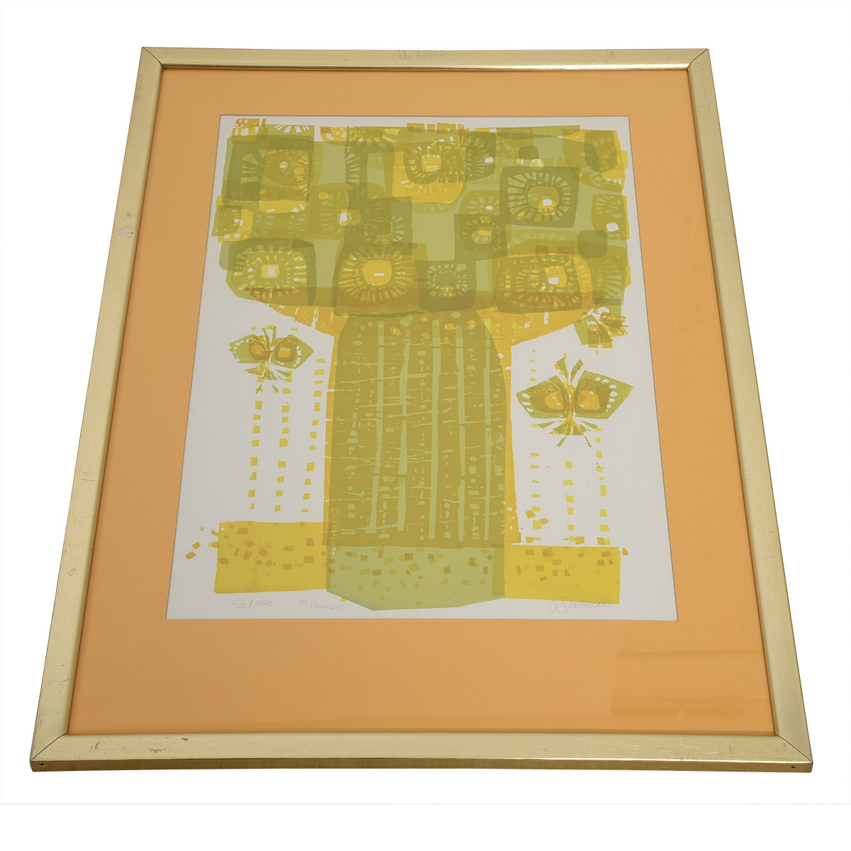 """1970s Signed Serigraph, """"Flowers III"""", by David Weidman"""