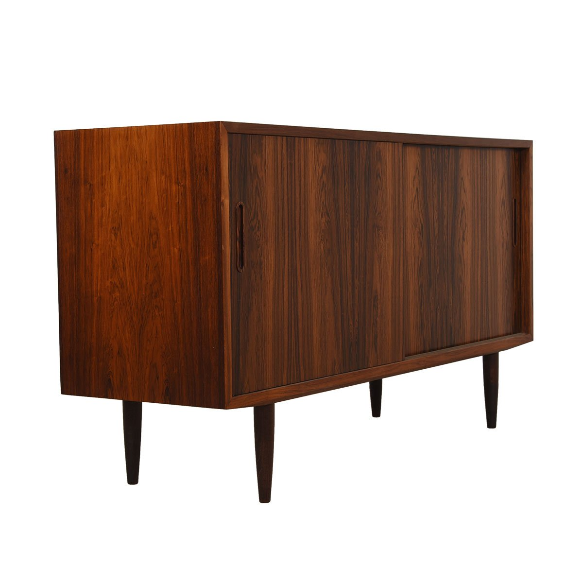 Compact Danish Rosewood Sideboard / Media / Storage Cabinet