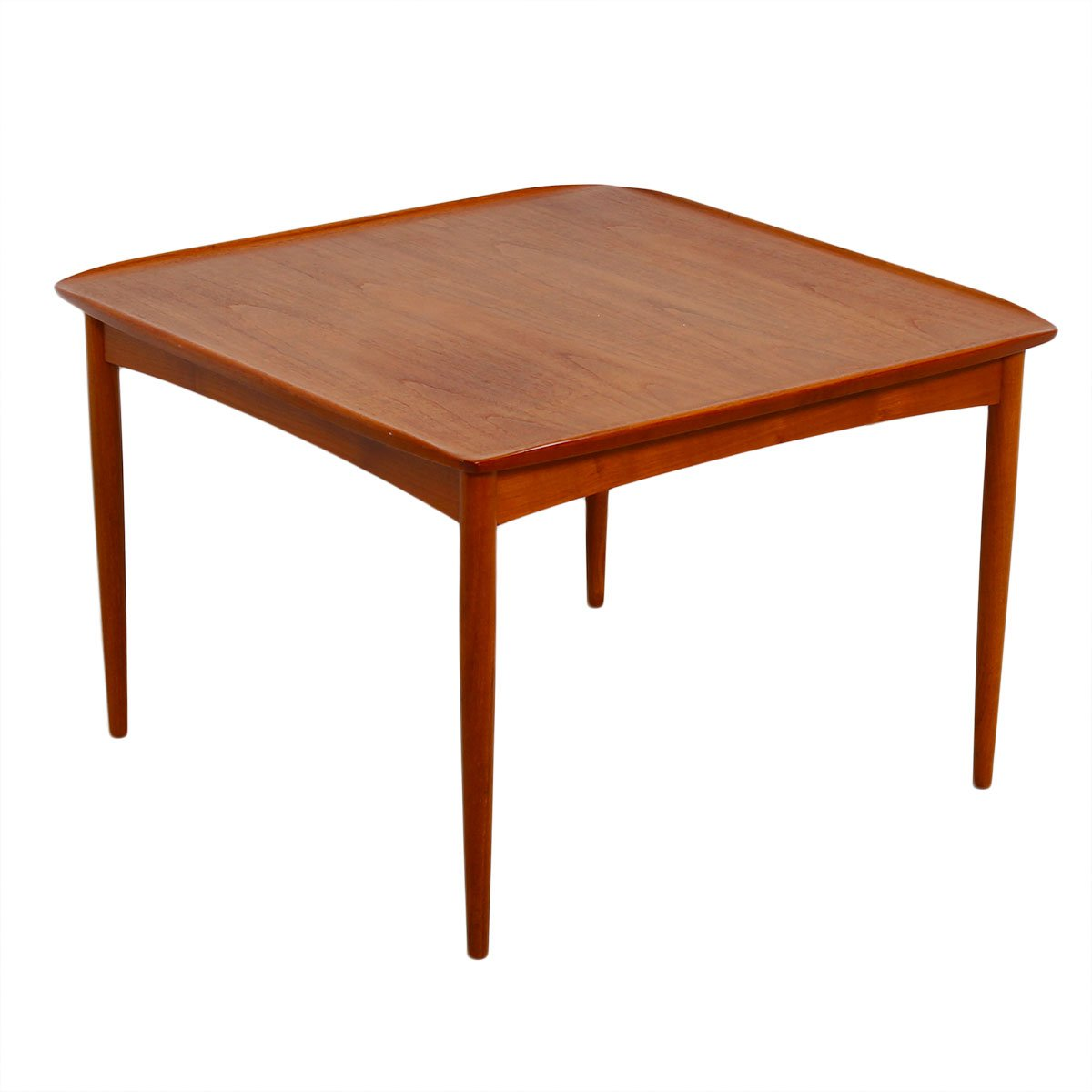 Raised Lip Edge Accent / End Table by Grete Jalk in Teak