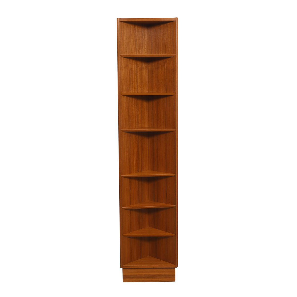 Danish Teak Corner Bookcase w/ Adjustable Shelves by Hundevad