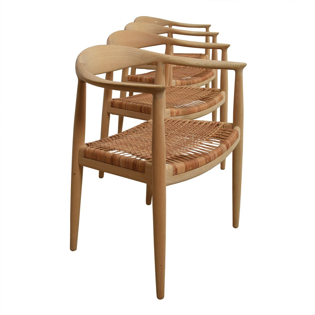"""Authentic Hans Wegner """"The Chair"""" Set of 8 by PP Mobler"""