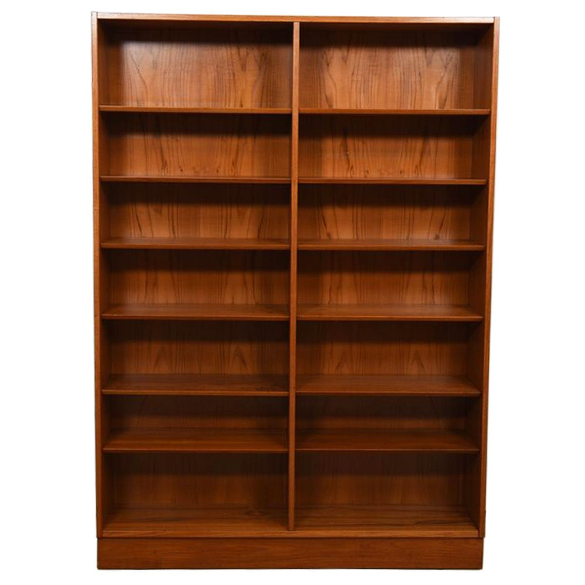 Danish Modern Teak Adjustable Shelf Bookcase