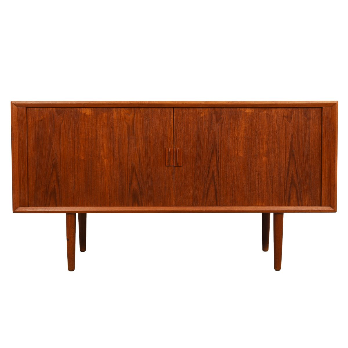 59″ Danish Teak Sideboard — Tambour Door Room Divider.