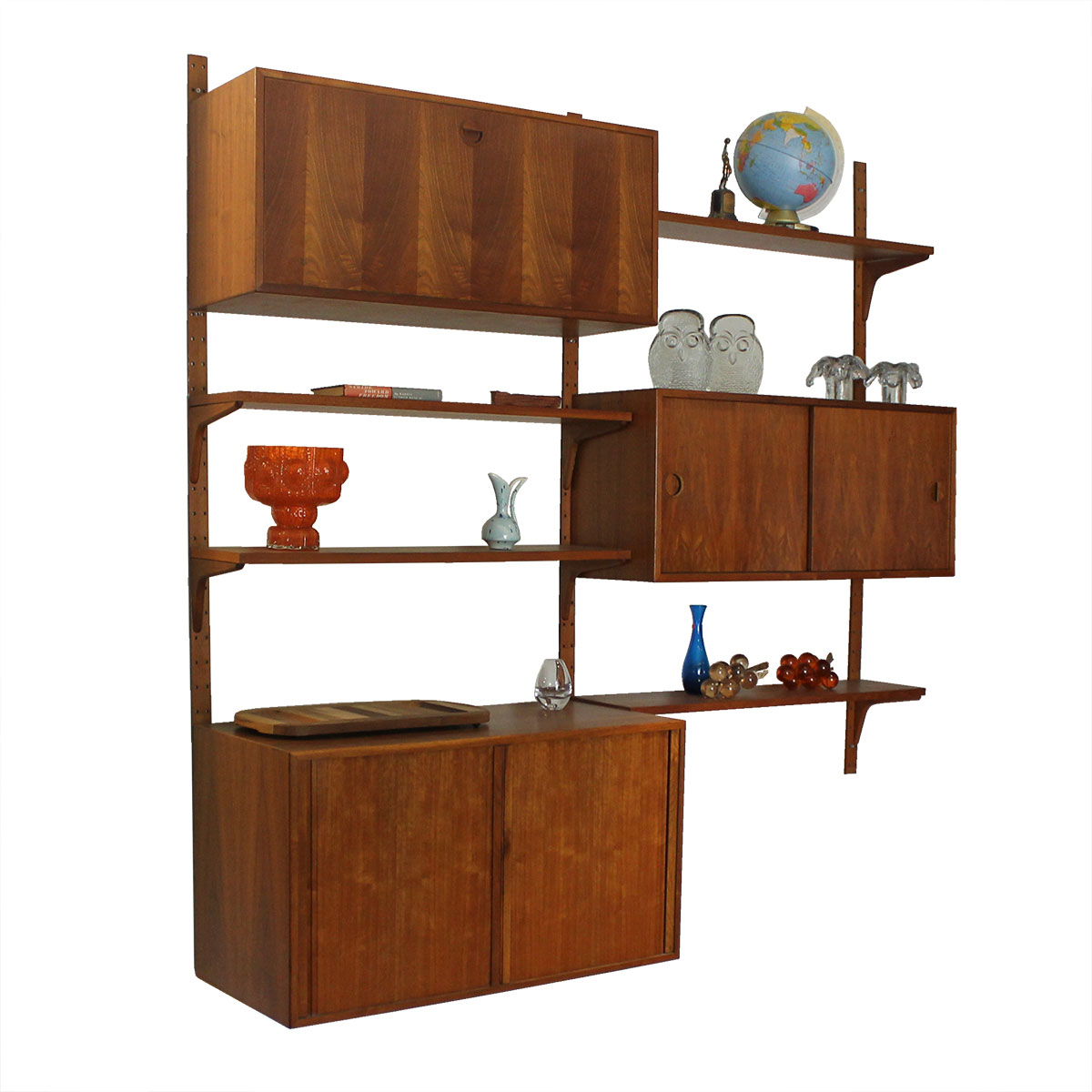 Danish Modern Wall Unit Shelving System
