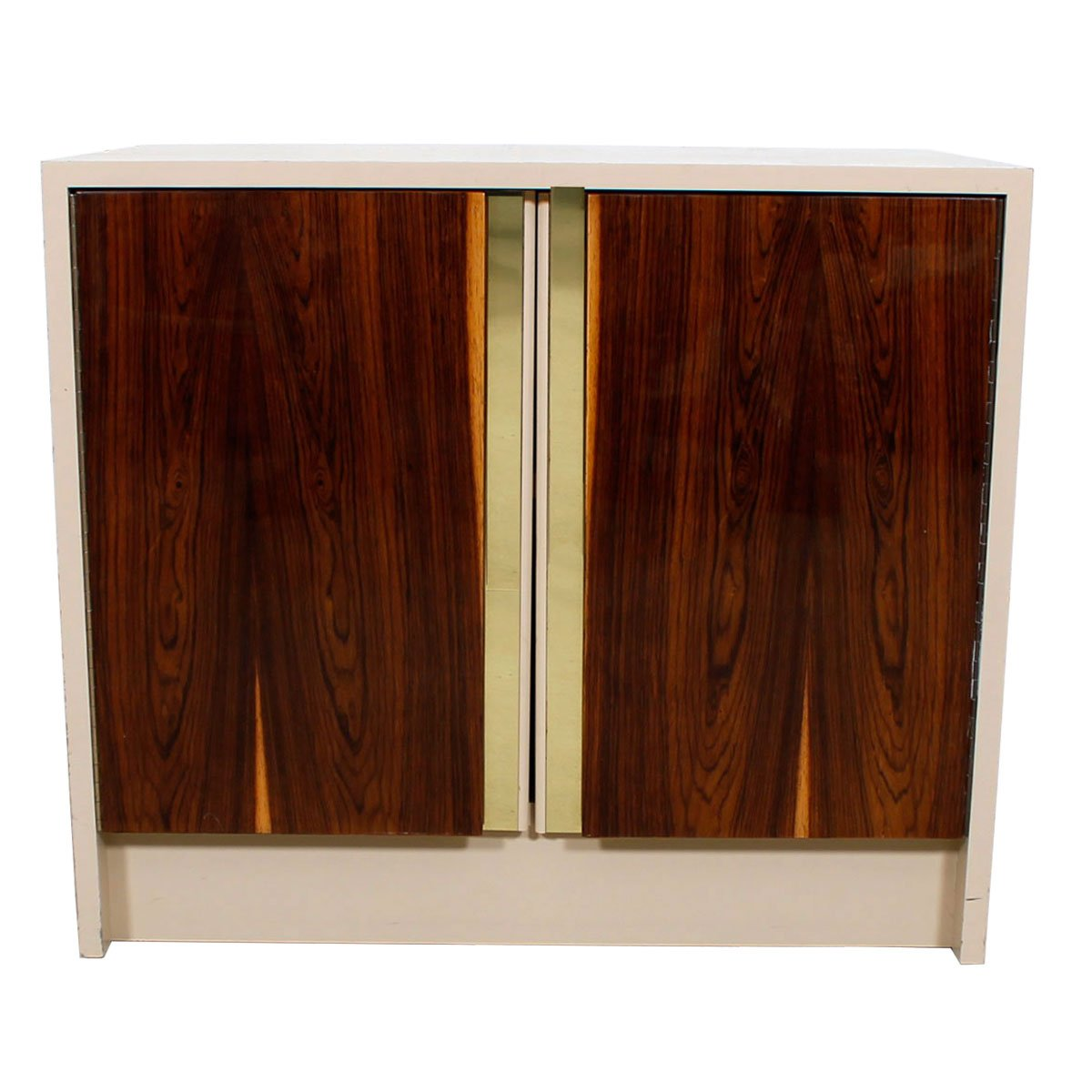 Milo Baughman Bar / Media Cabinet with Rosewood Doors.