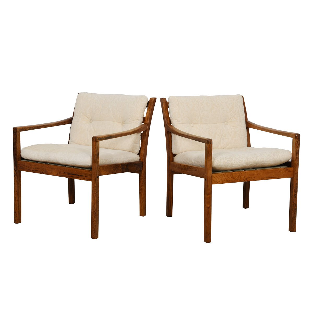 Pair of Danish Modern Rosewood Accent Chairs