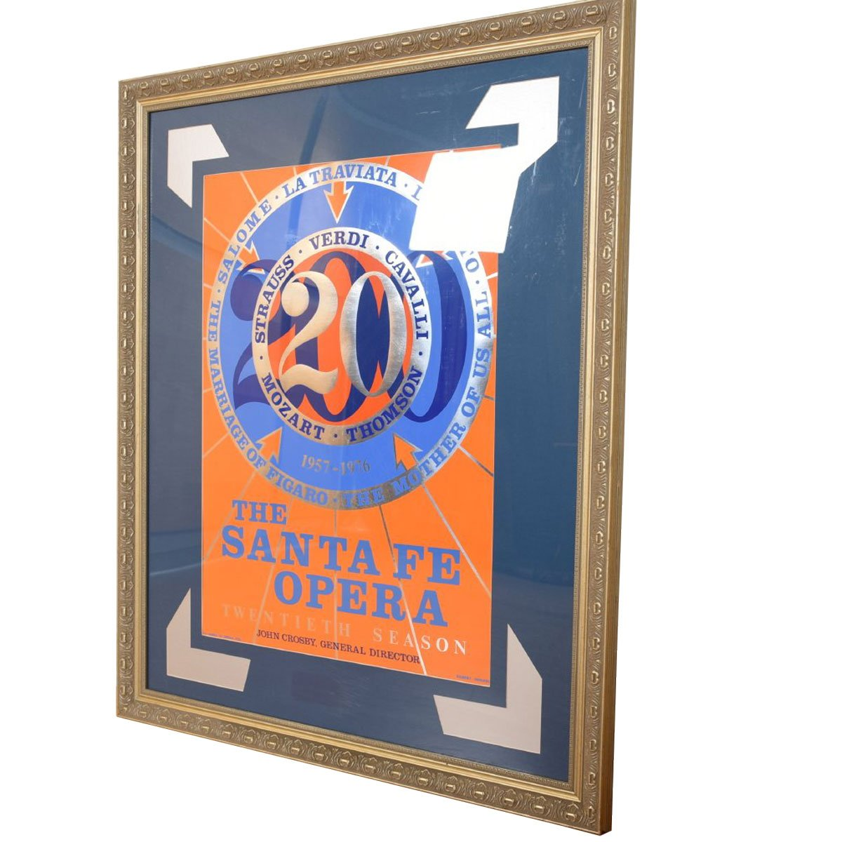 Framed Poster by Robert Indiana for the Santa Fe Opera, 1976