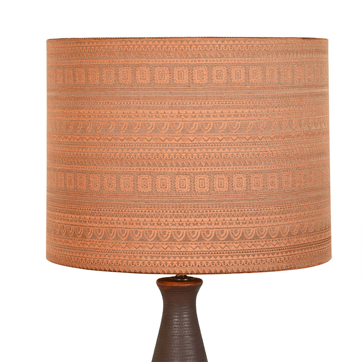 Patterned 'Snakeskin' Italian Table Lamp w/ Arabesque Shade