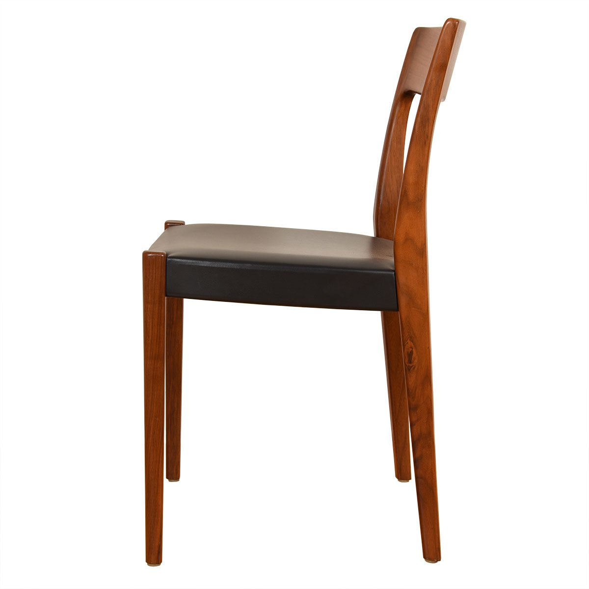 Set of 4 Scandinavian Modern Walnut Dining Chairs