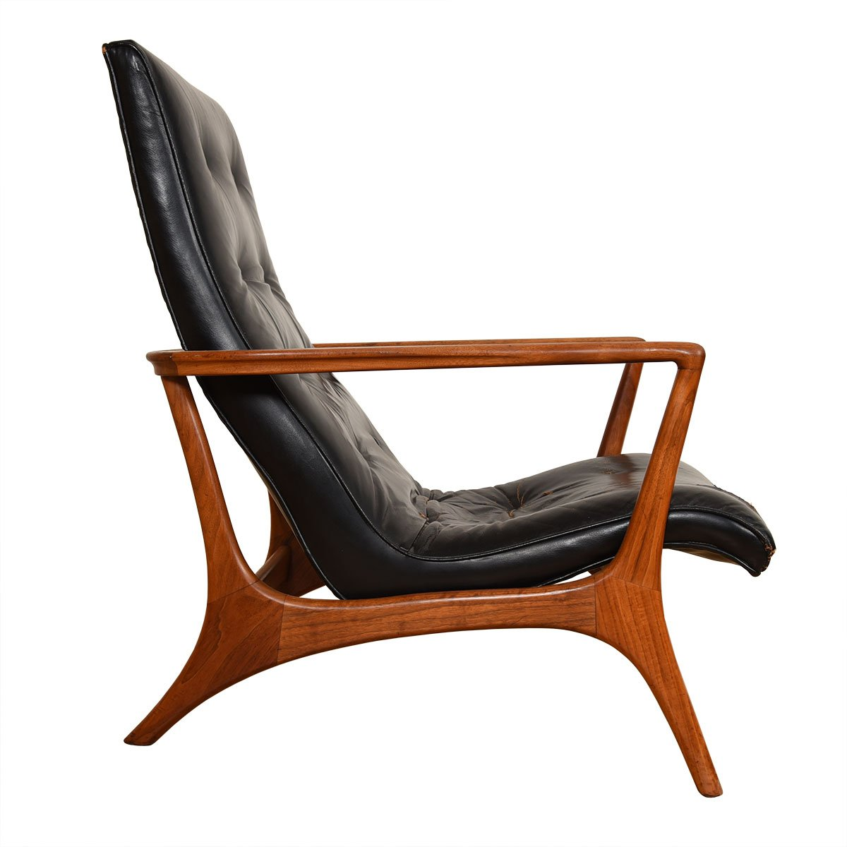 Vladimir Kagan Rare Walnut Contour Lounge Chair