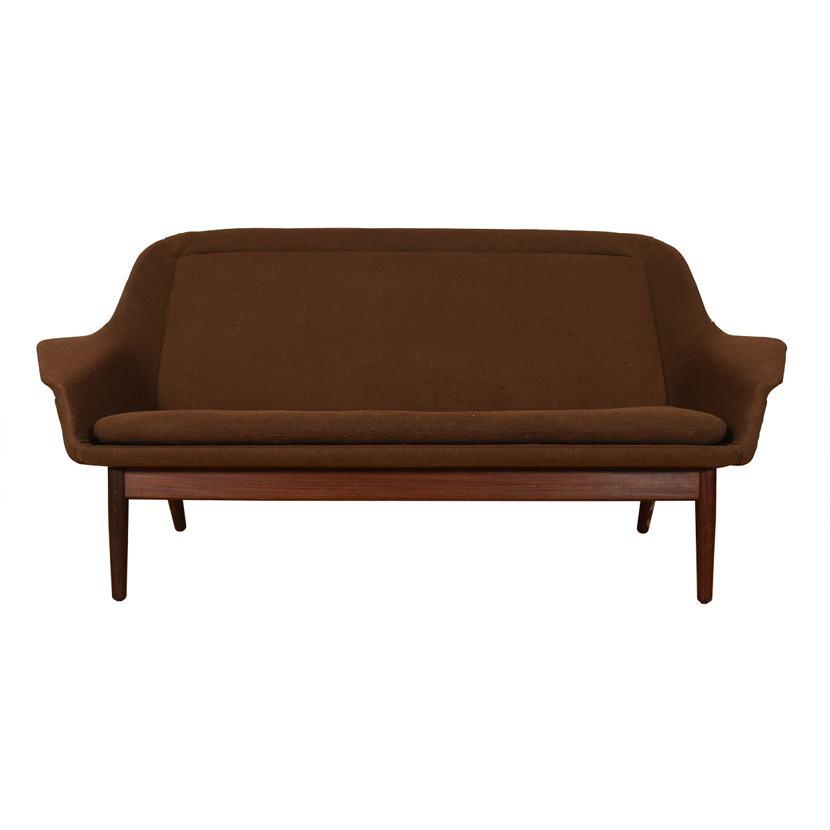 Rare Model for George Tanier — Arne Vodder Upholstered Brown Sofa