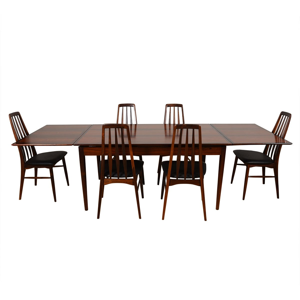 Mid-Sized Danish Modern Rosewood Expanding Dining Table.