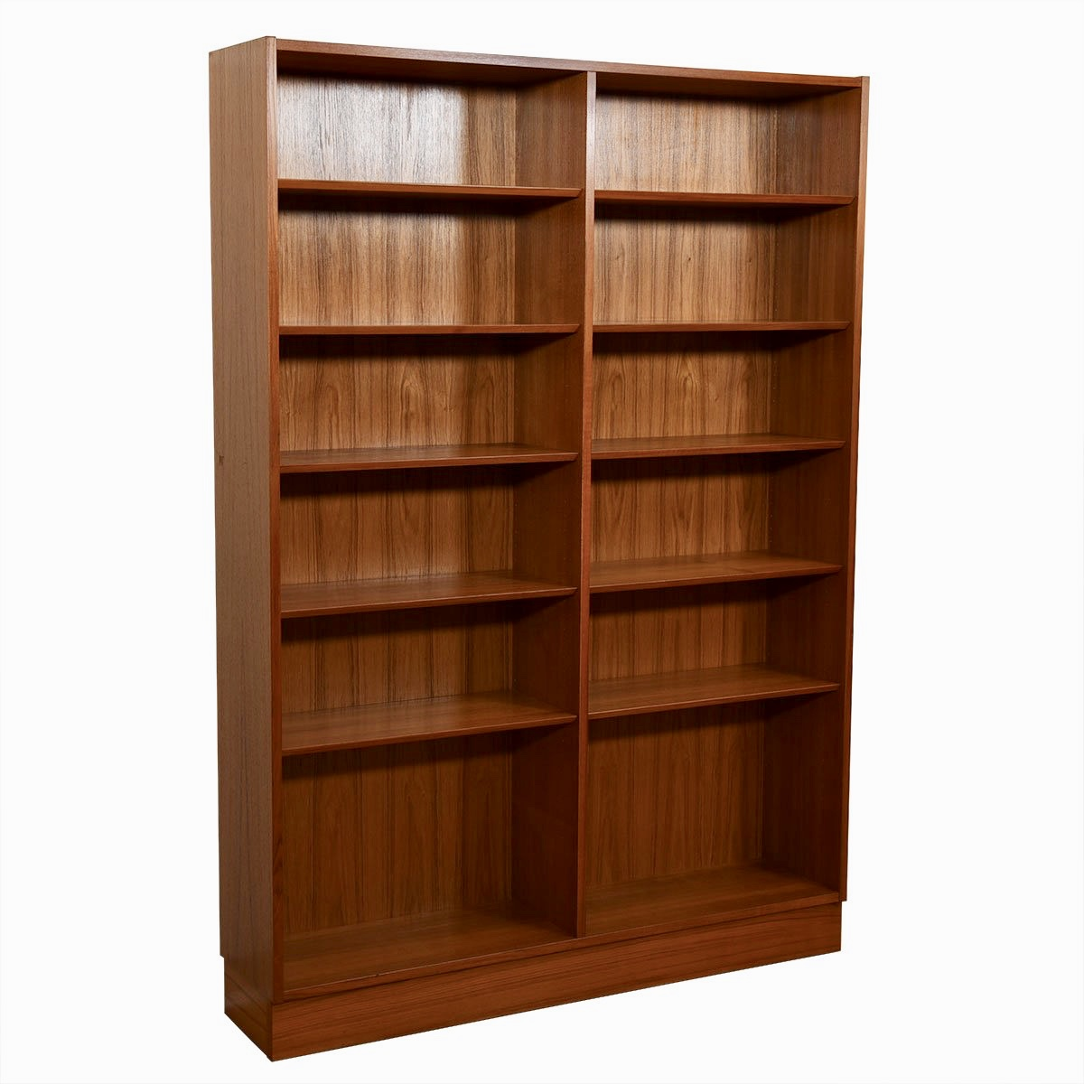 Danish Teak Tall + Wide Full Bookcase