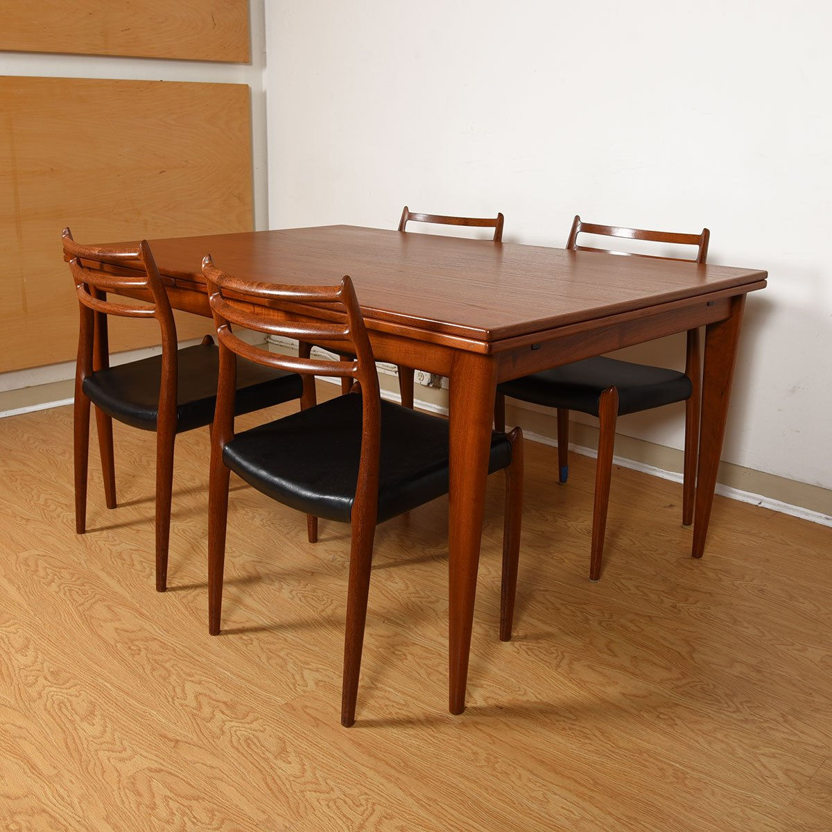 Mid-Sized Danish Teak Dining Table by Niels Møller.