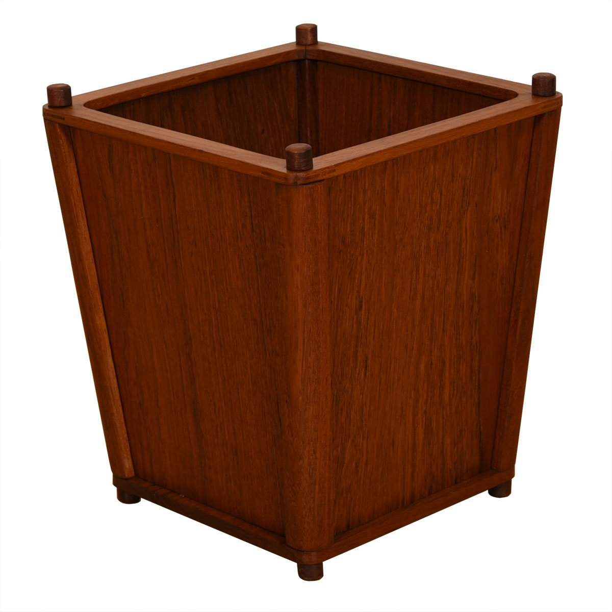 Danish Teak Compact Waste Basket