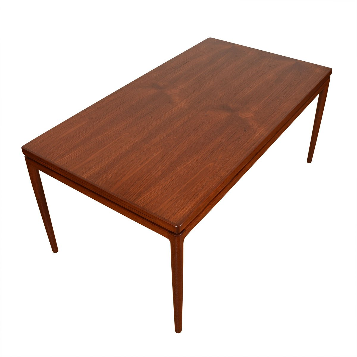 Danish Teak Expanding Dining Table w/ 2 Insert Leaves by Chr. Linneberg