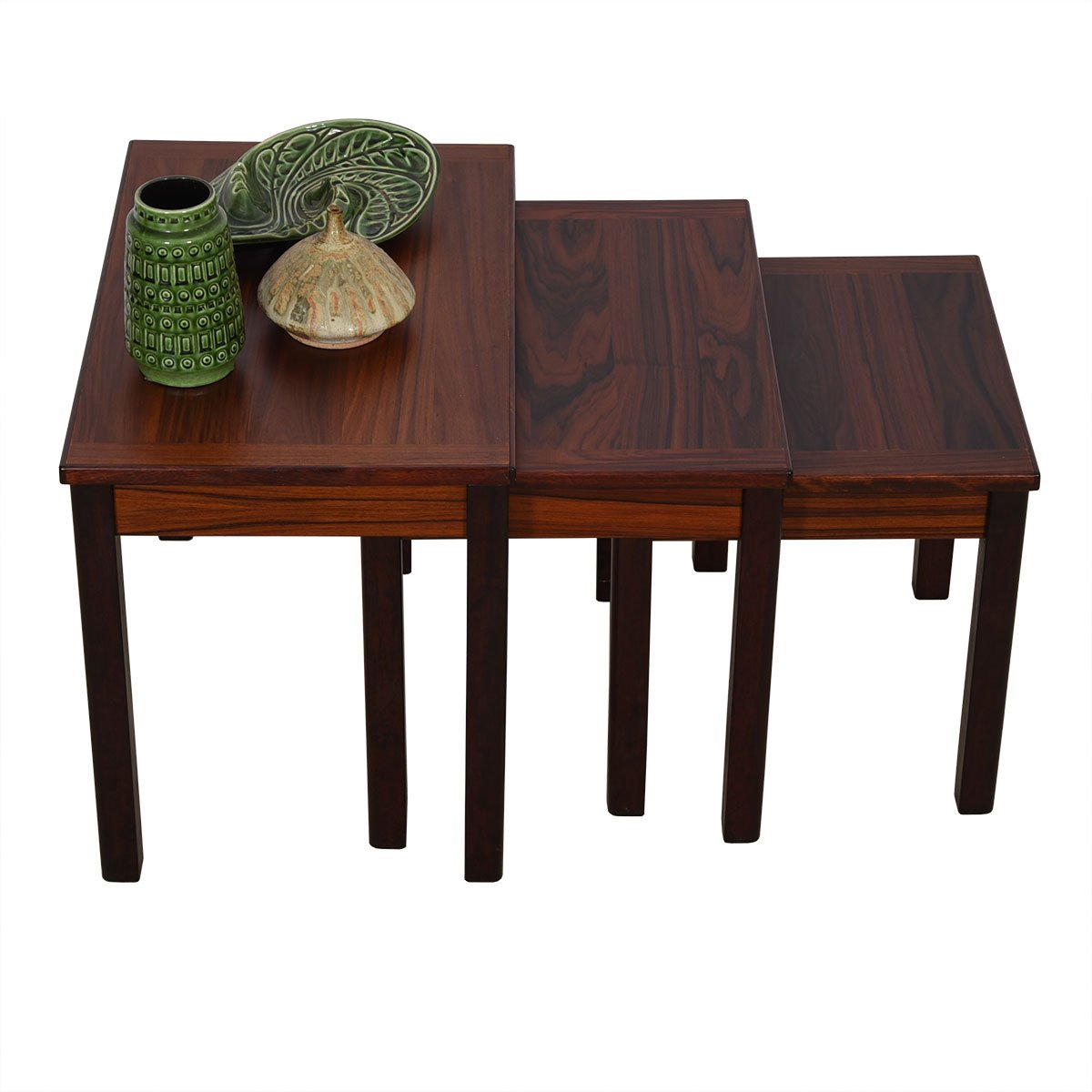 Set of 3 Danish Modern Nesting Tables in Rosewood