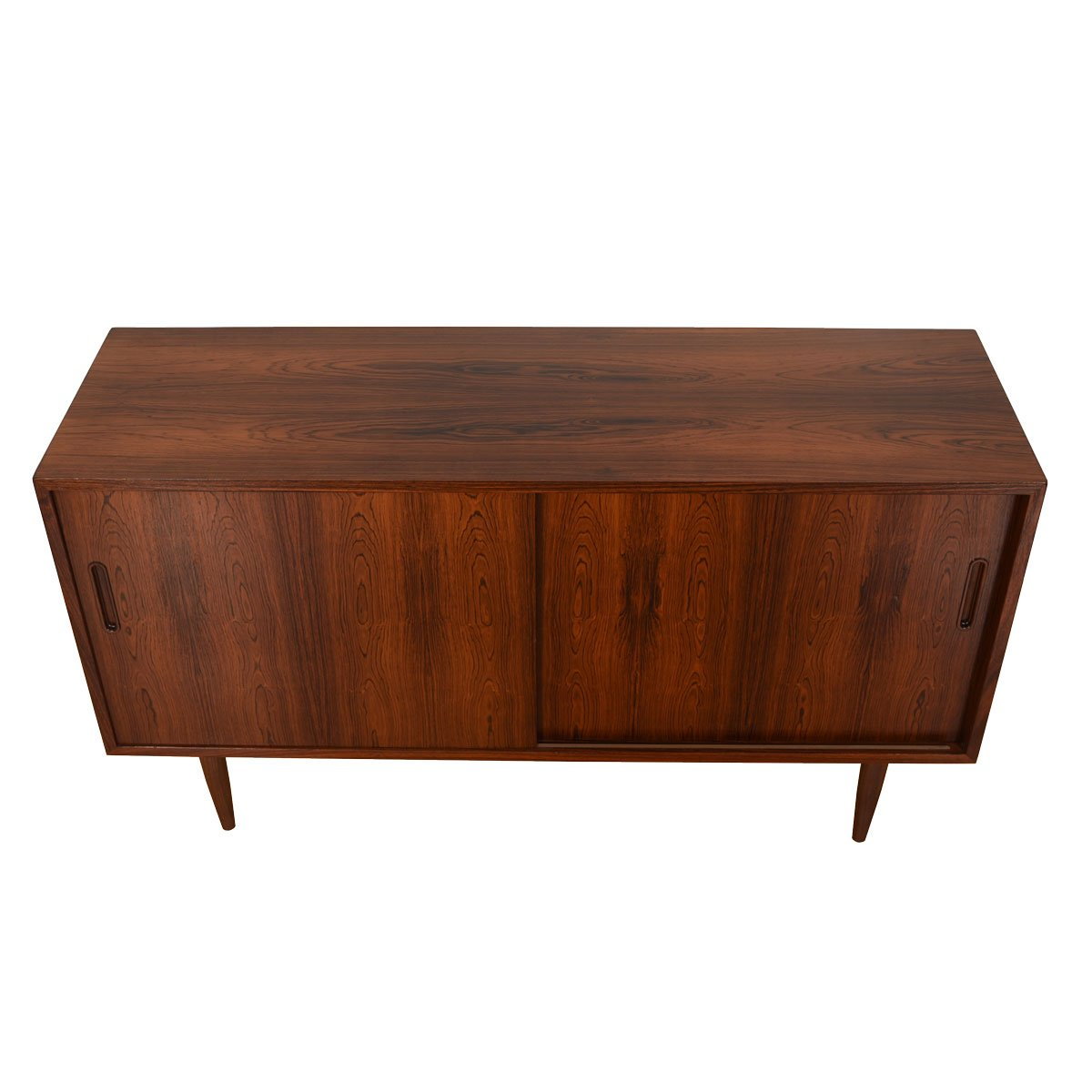 Rosewood Condo-Sized Sliding Door Sideboard / Media Cabinet.