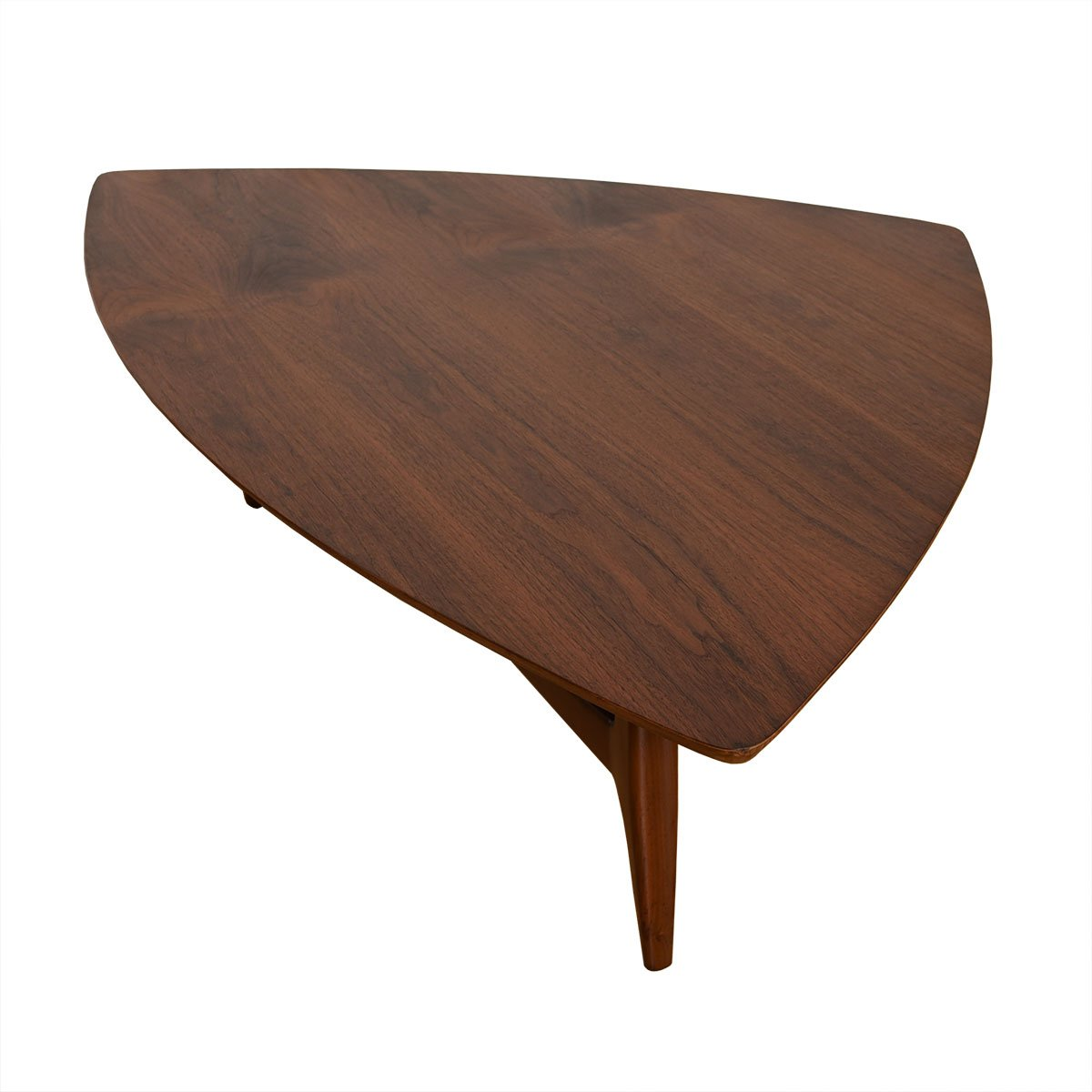 Mid Century Walnut Streamlined Biomorphic Coffee Table