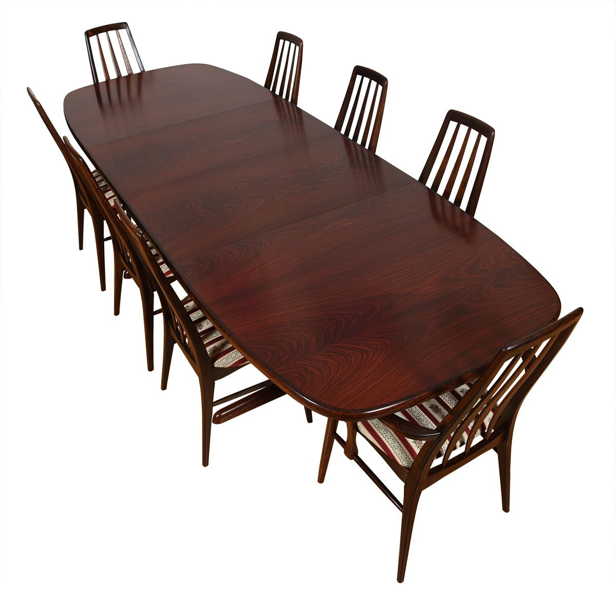 Danish Rosewood Expanding Pedestal Dining Table