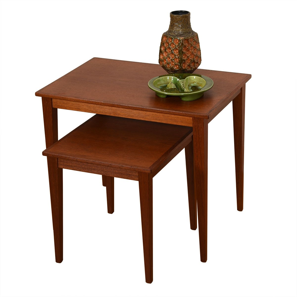 Set of 2 Danish Modern Teak Nesting Tables