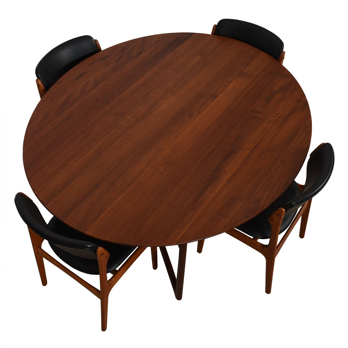 Danish Modern Teak Oval Drop-Leaf Dining Table