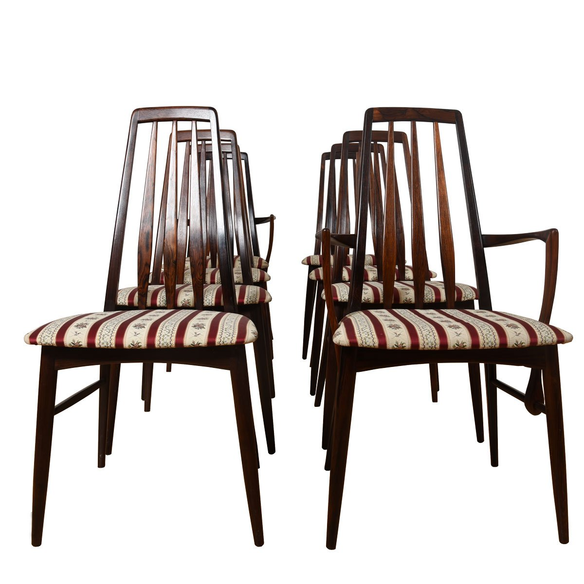 Set of 8 Danish Modern Rosewood Dining Chairs.