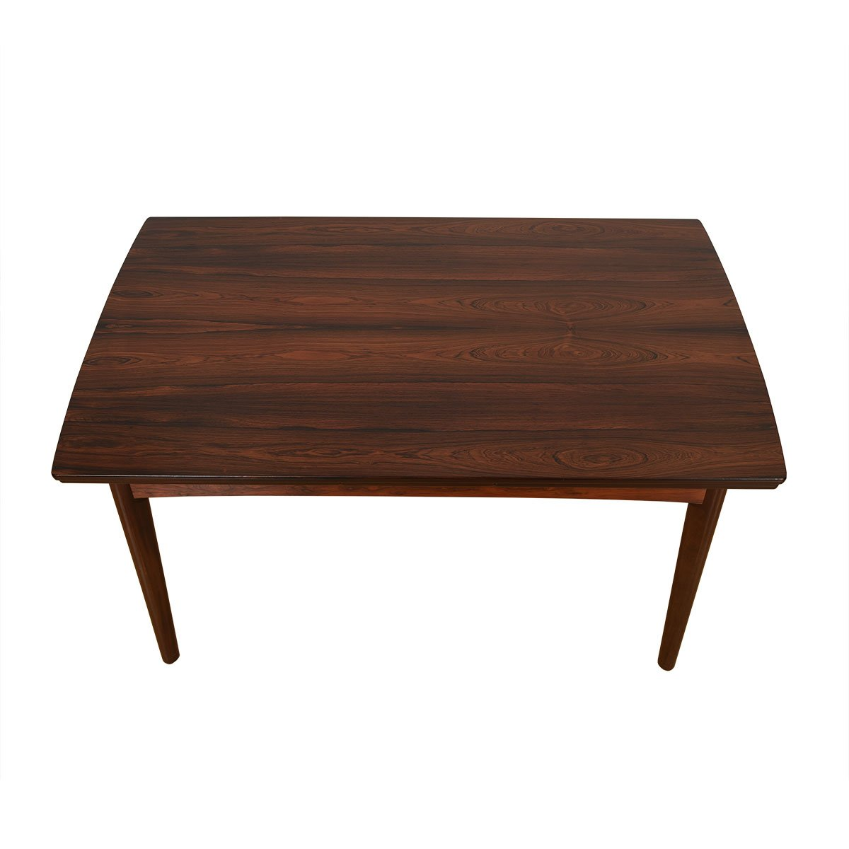 Danish Rosewood Concave Edge Expanding Dining Table