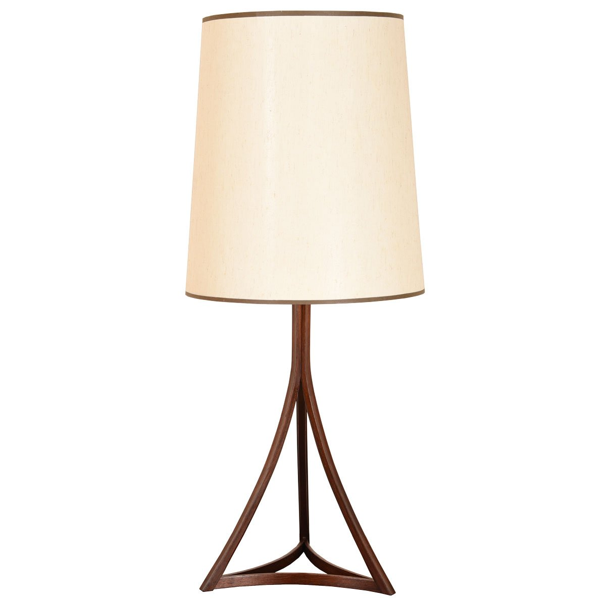 Danish Modern Rosewood Frame Table Lamp