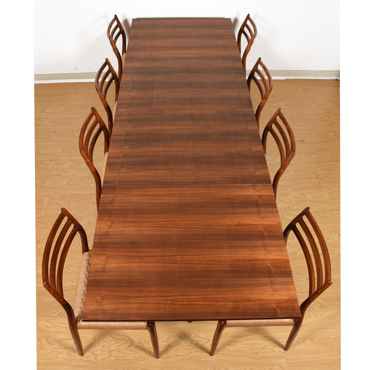 Iconic Super Expanding 'Maria Flap' Swedish Walnut Dining Table