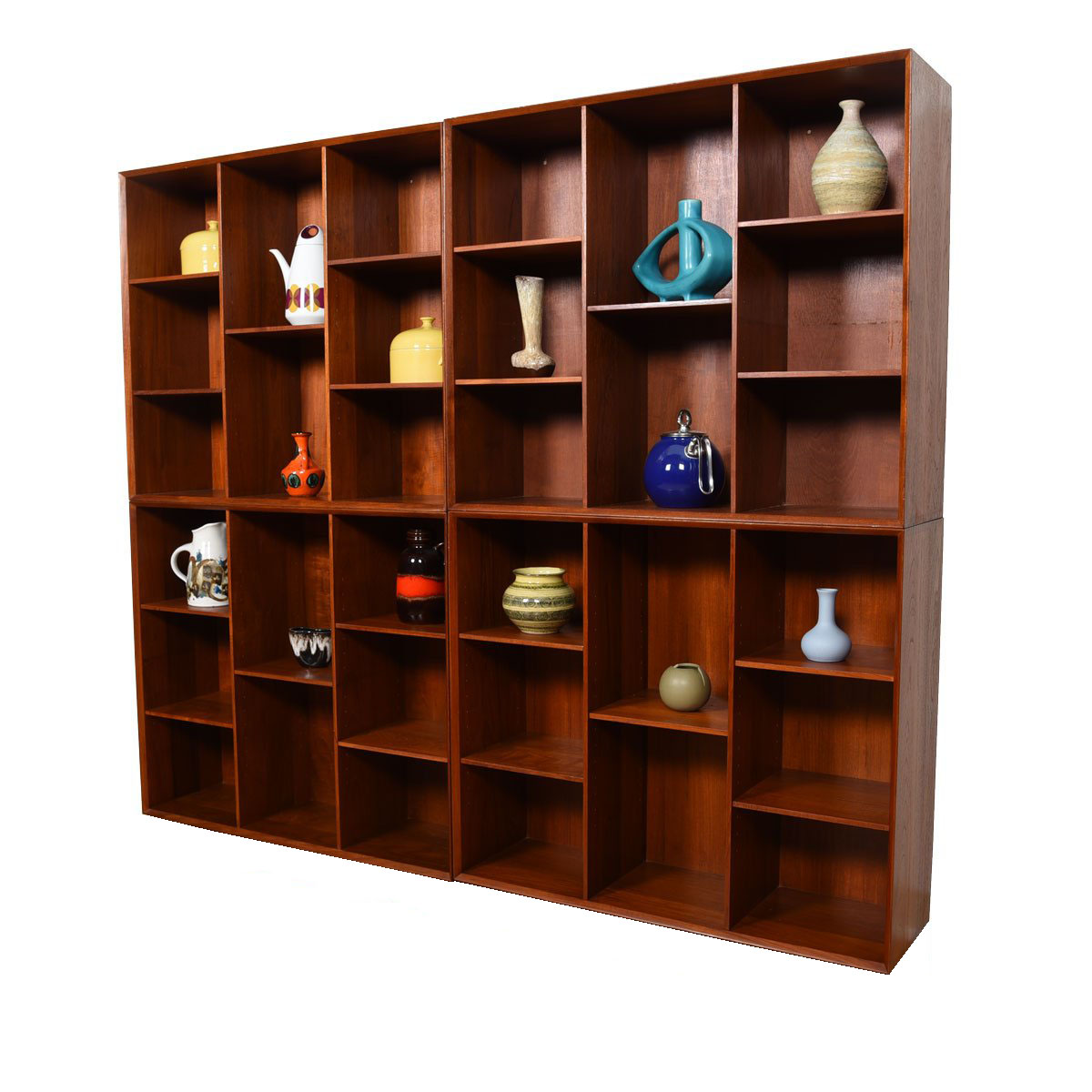 Solid Teak Danish Bookcases by Peter Hvidt – Multiple Configurations