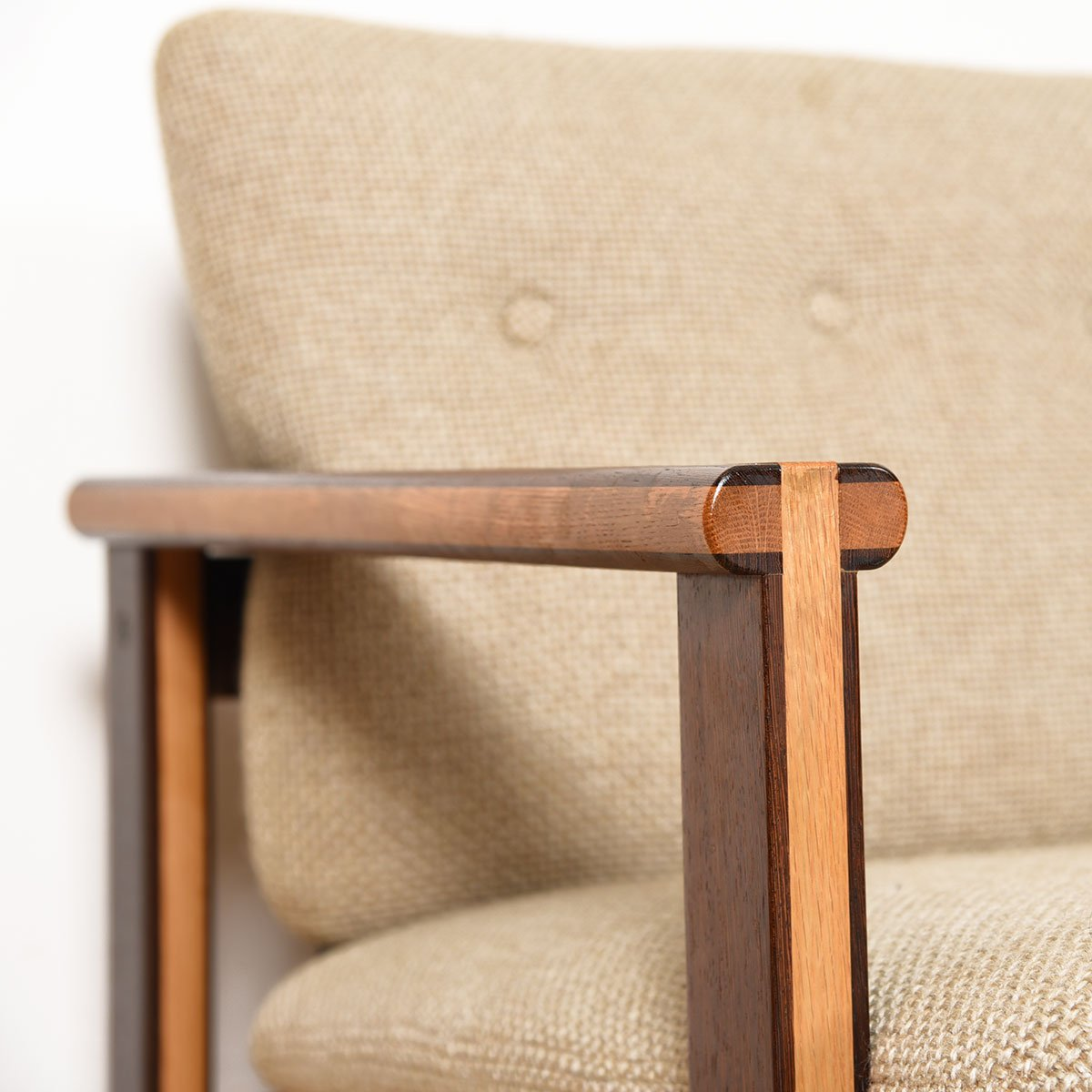 Capella 2-Tone Wenge Wood Love-Seat for N. Eilersen
