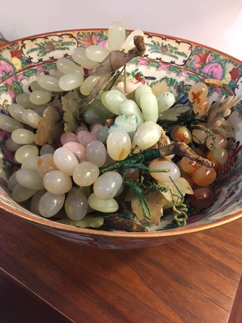 Mid-century Semi-precious Stone Grape Clusters