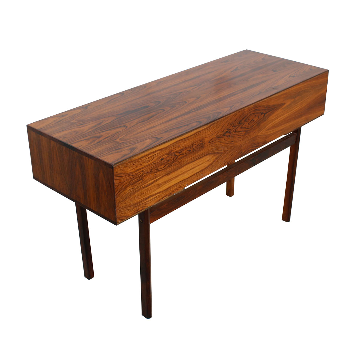 Tax & Delivery Petite Danish Modern Rosewood Split Drawer Desk