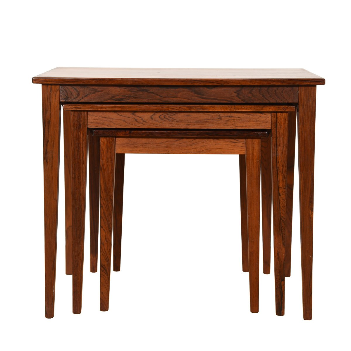 Set of 3 Danish Modern Rosewood Nesting Tables