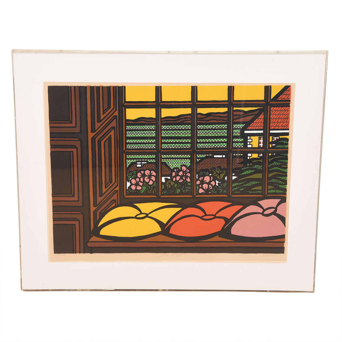 "Vivid Colors! ""Sea Cliff"", Japanese-style Screenprint 65/125"