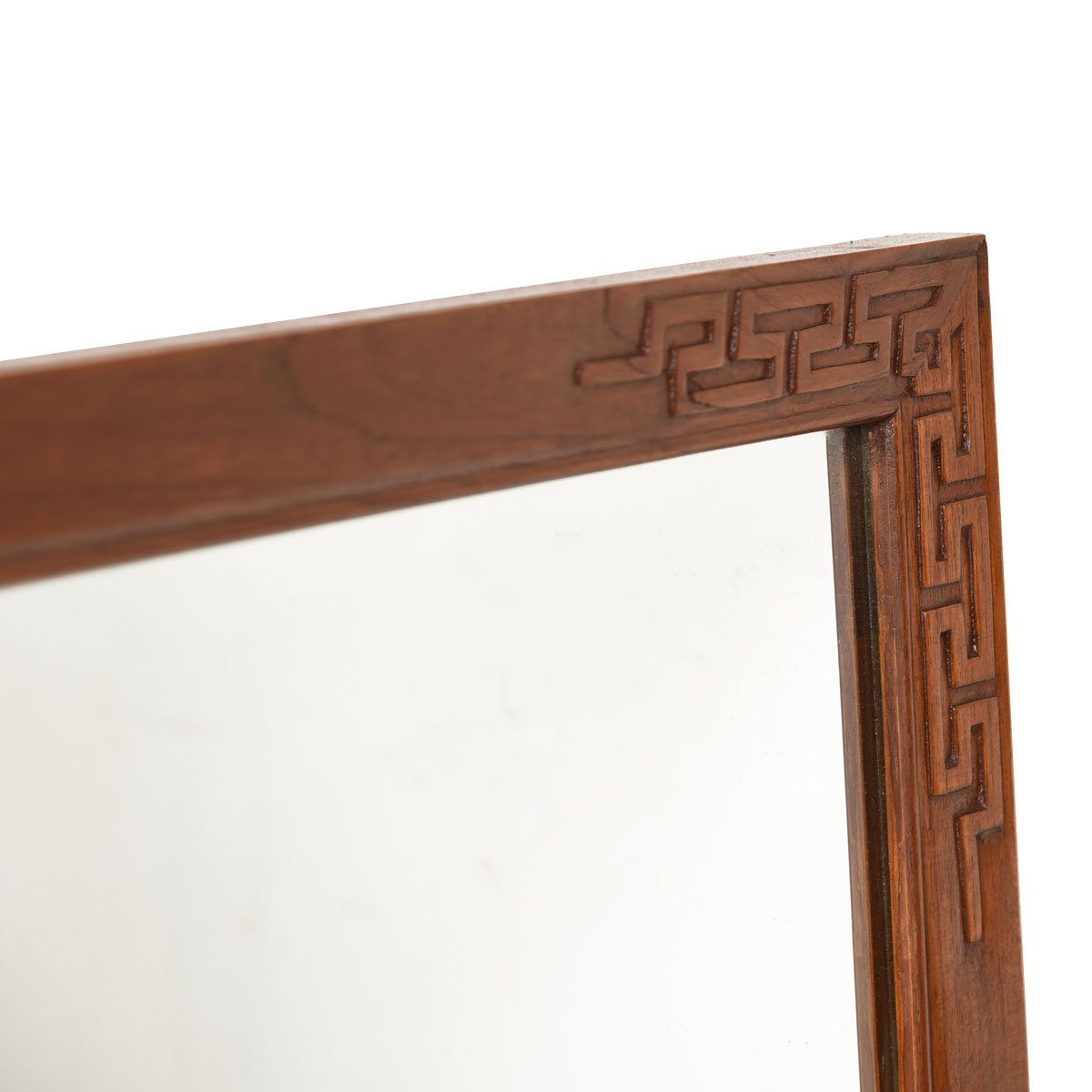 Decorator Teak Mirror with Carved Detail Frame