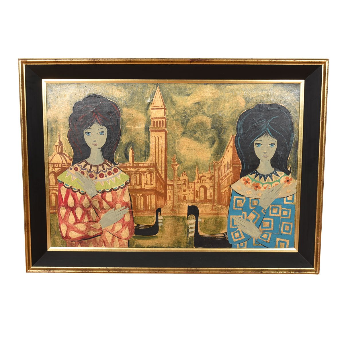 MCM Artwork Featuring Two Women in Front of St. Mark's, Venice